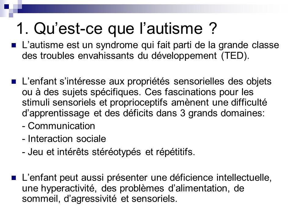 1. Qu'est-ce que l'autisme