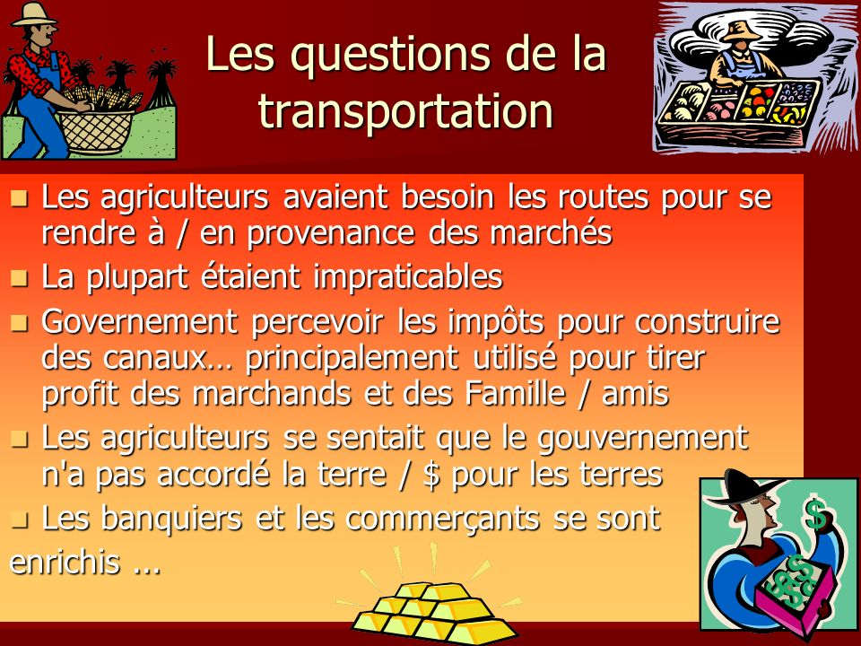 Les questions de la transportation