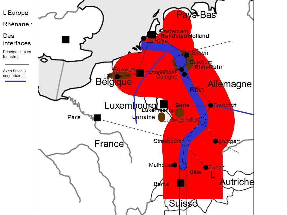 Pays-Bas Belgique Allemagne Luxembourg France L Autriche Suisse Rhin