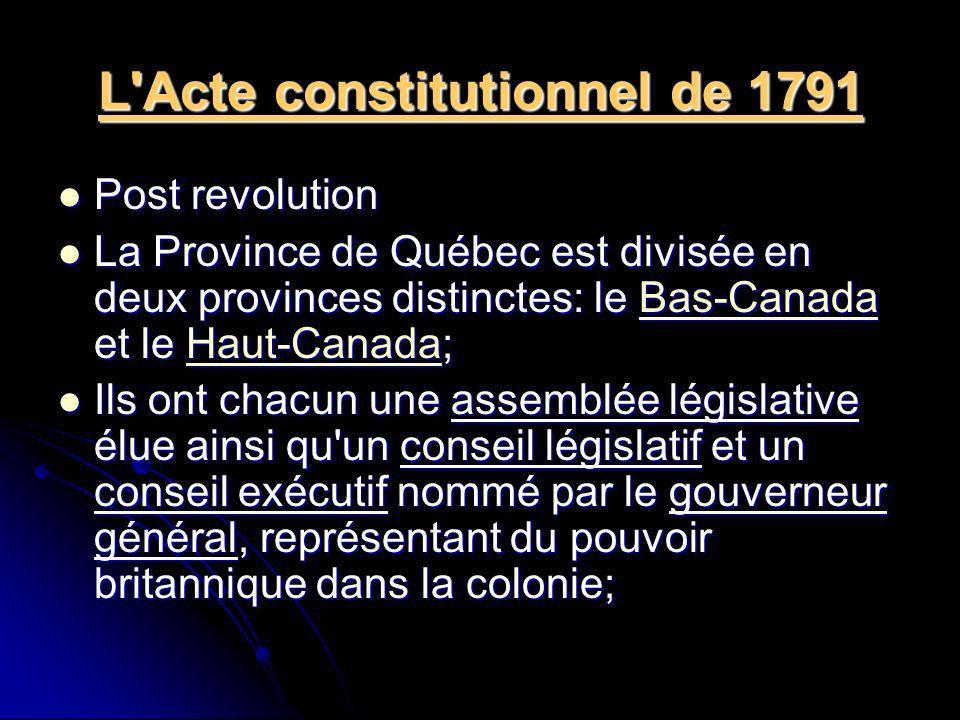 L Acte constitutionnel de 1791