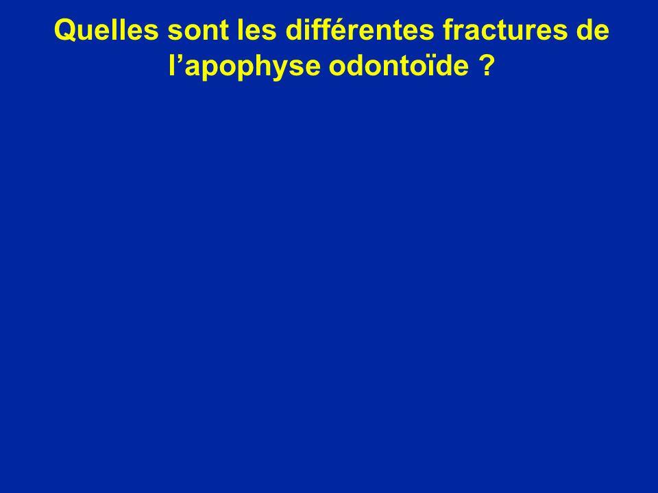Quelles sont les différentes fractures de l'apophyse odontoïde