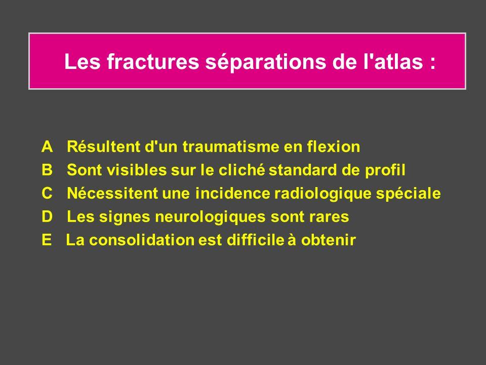 Les fractures séparations de l atlas :