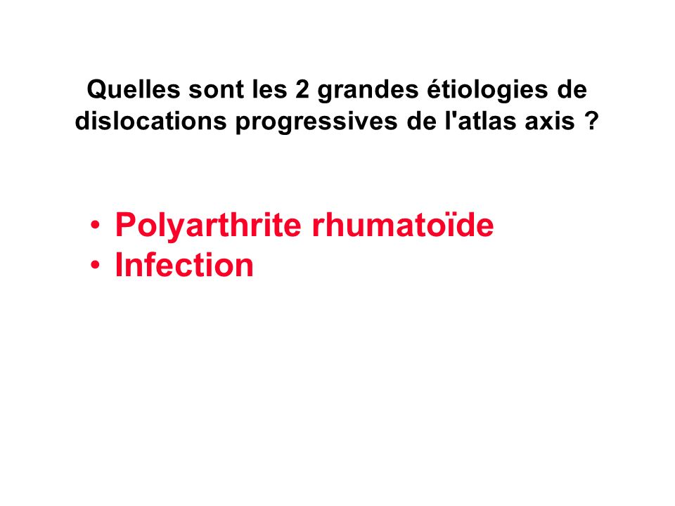 Polyarthrite rhumatoïde Infection