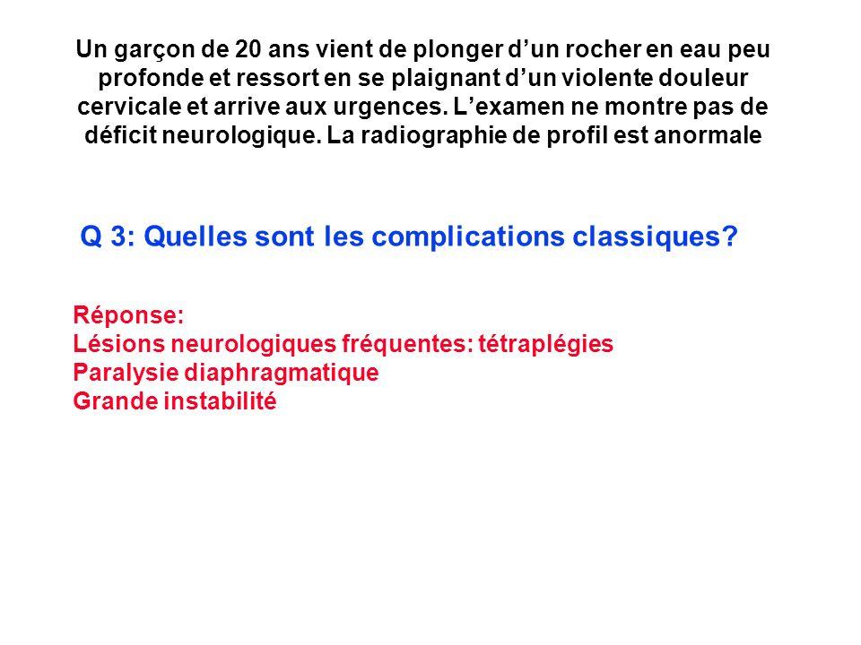 Q 3: Quelles sont les complications classiques