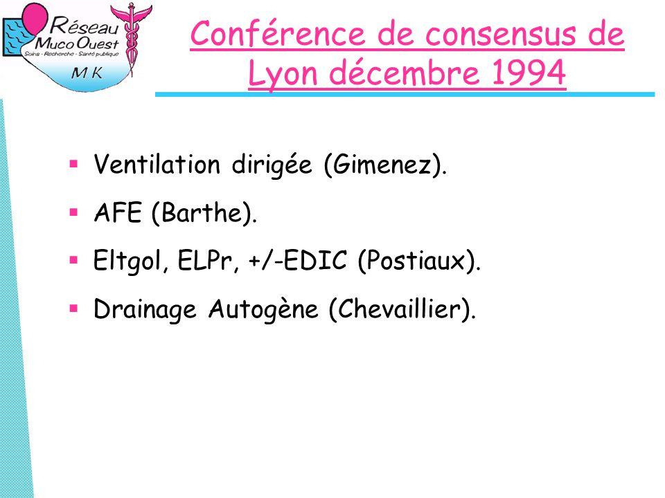 Conférence de consensus de Lyon décembre 1994