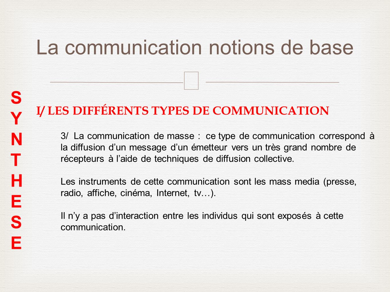 La communication notions de base