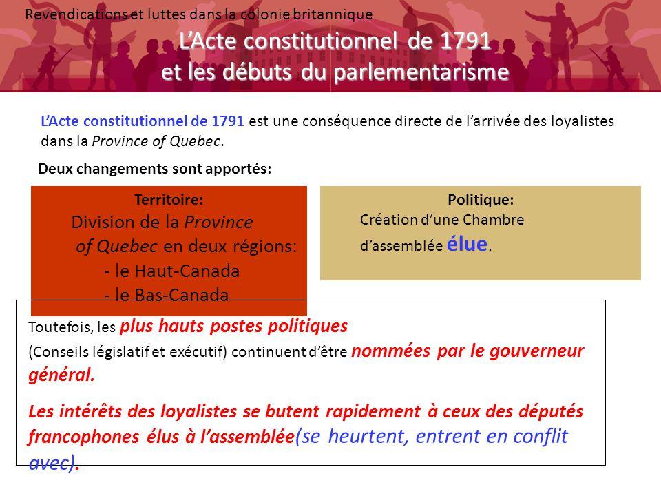 L'Acte constitutionnel de 1791 et les débuts du parlementarisme