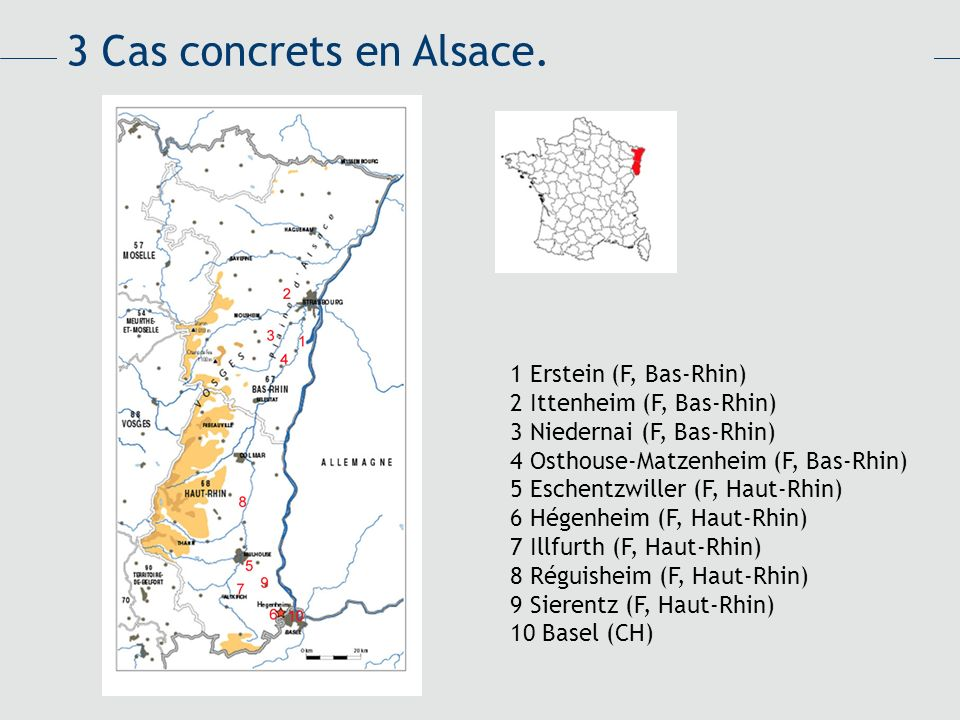 3 Cas concrets en Alsace. 1 Erstein (F, Bas-Rhin)