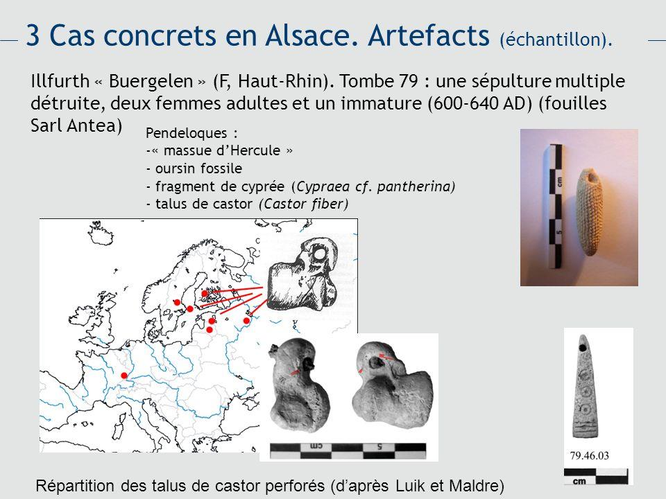 3 Cas concrets en Alsace. Artefacts (échantillon).