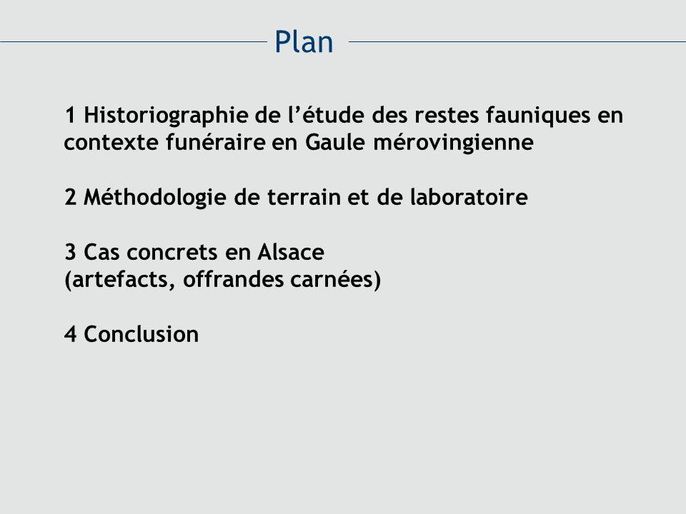 Plan 1 Historiographie de l'étude des restes fauniques en contexte funéraire en Gaule mérovingienne.