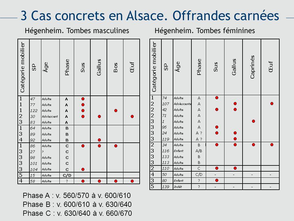 3 Cas concrets en Alsace. Offrandes carnées