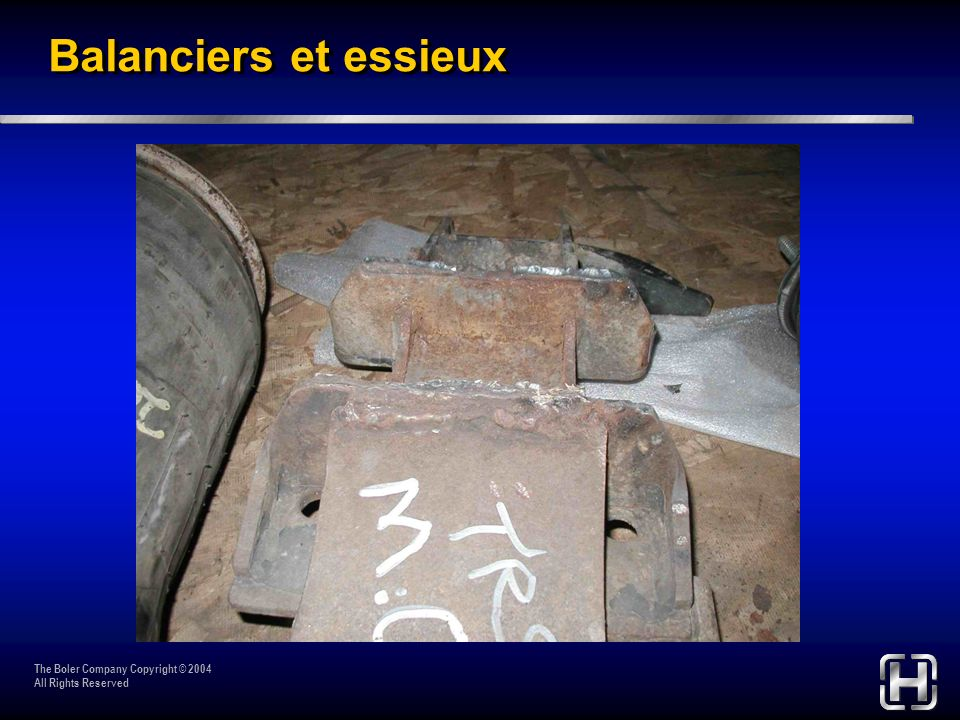 Balanciers et essieux The Boler Company Copyright © 2004