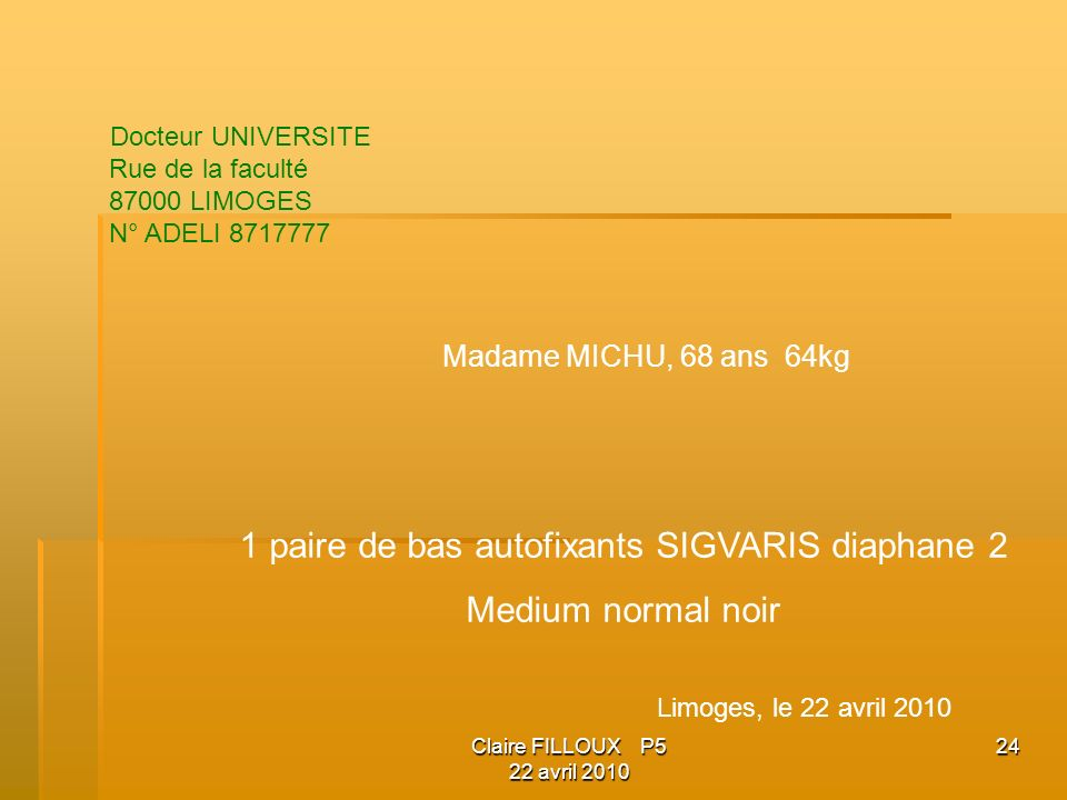 1 paire de bas autofixants SIGVARIS diaphane 2