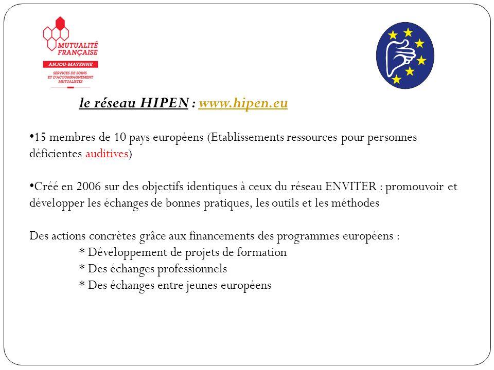 le réseau HIPEN : www.hipen.eu