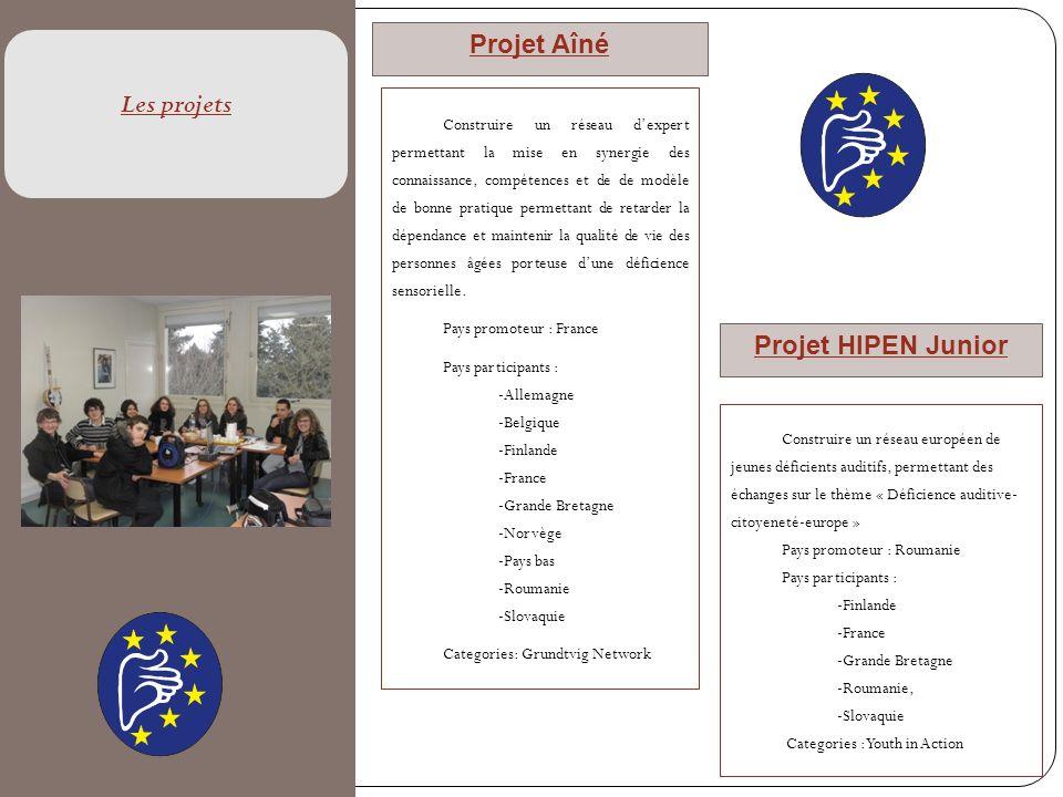 Projet Aîné Les projets Projet HIPEN Junior