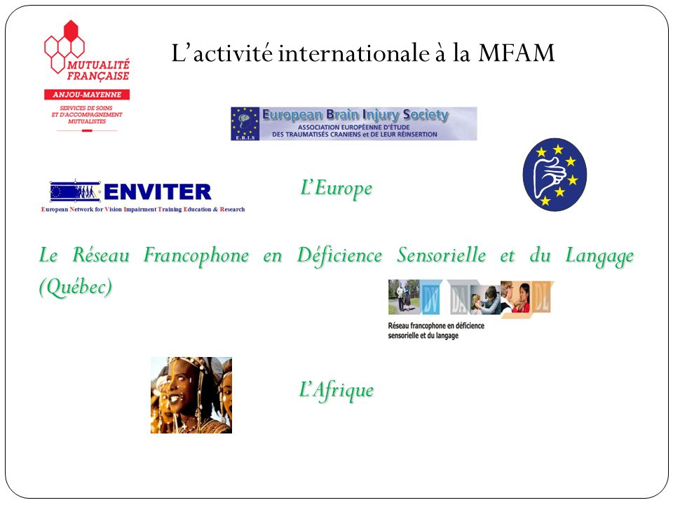 L'activité internationale à la MFAM