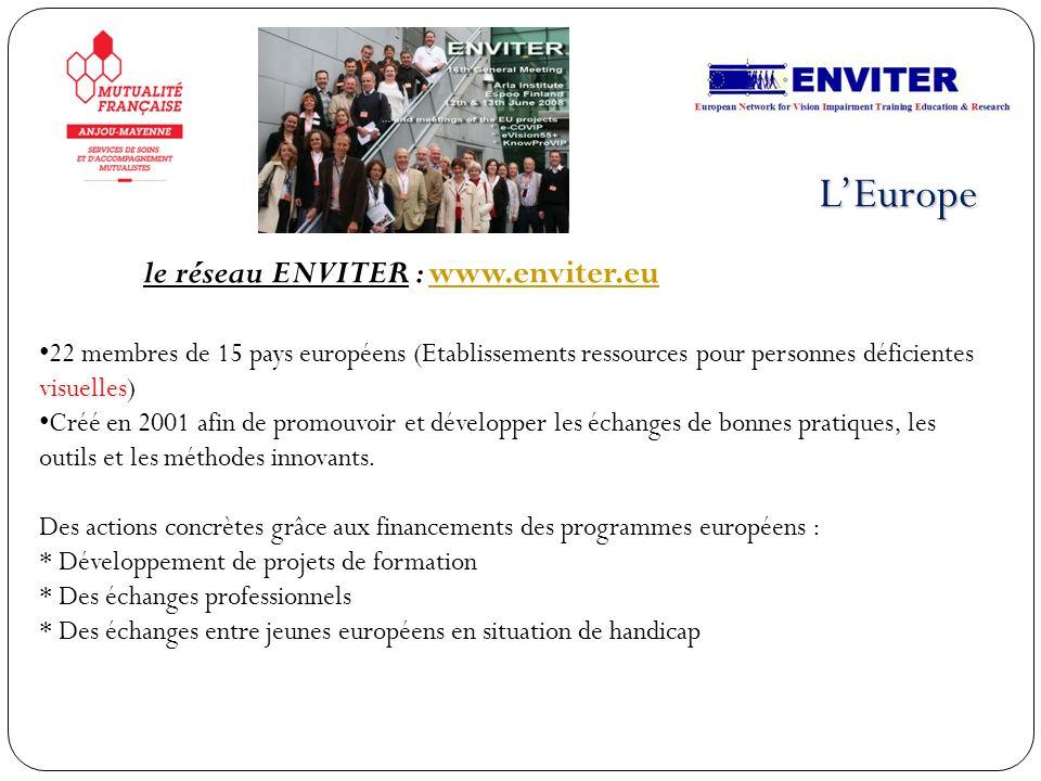 L'Europe le réseau ENVITER : www.enviter.eu