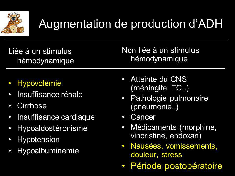 Augmentation de production d'ADH