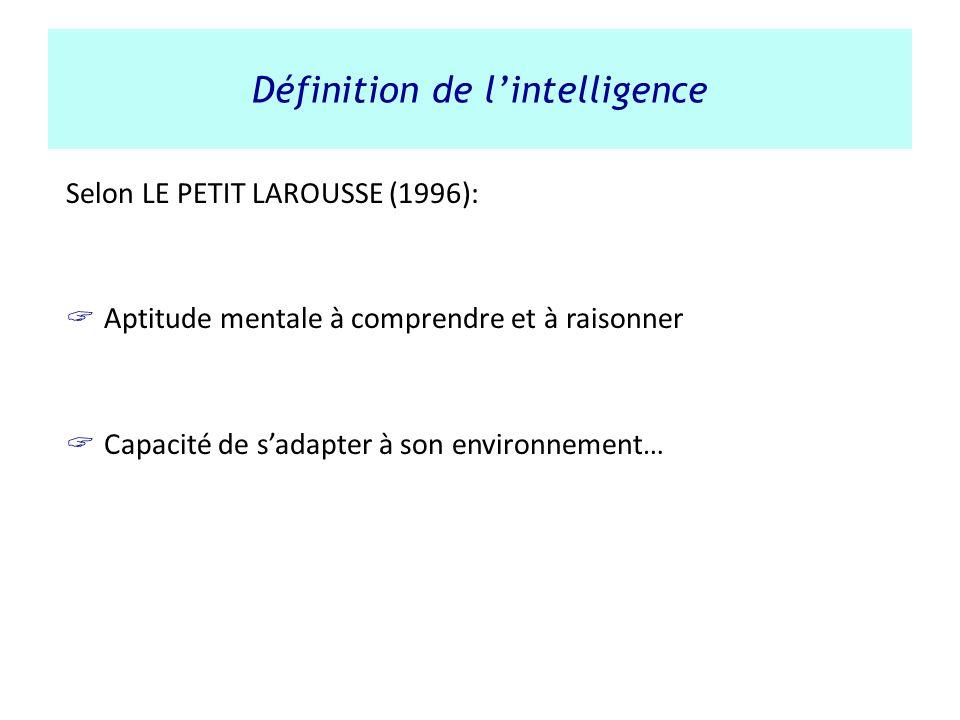 Définition de l'intelligence