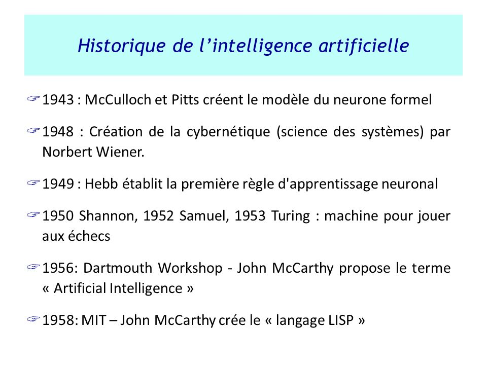 Historique de l'intelligence artificielle