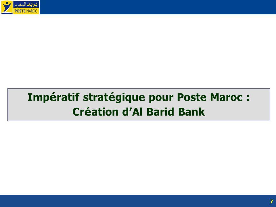 Impératif stratégique pour Poste Maroc : Création d'Al Barid Bank