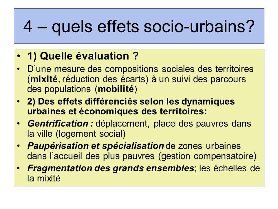 4 – quels effets socio-urbains