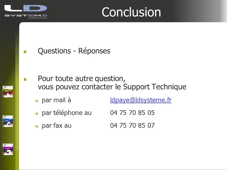 Conclusion Questions - Réponses