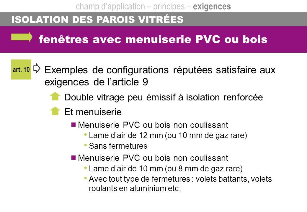 fenêtres avec menuiserie PVC ou bois