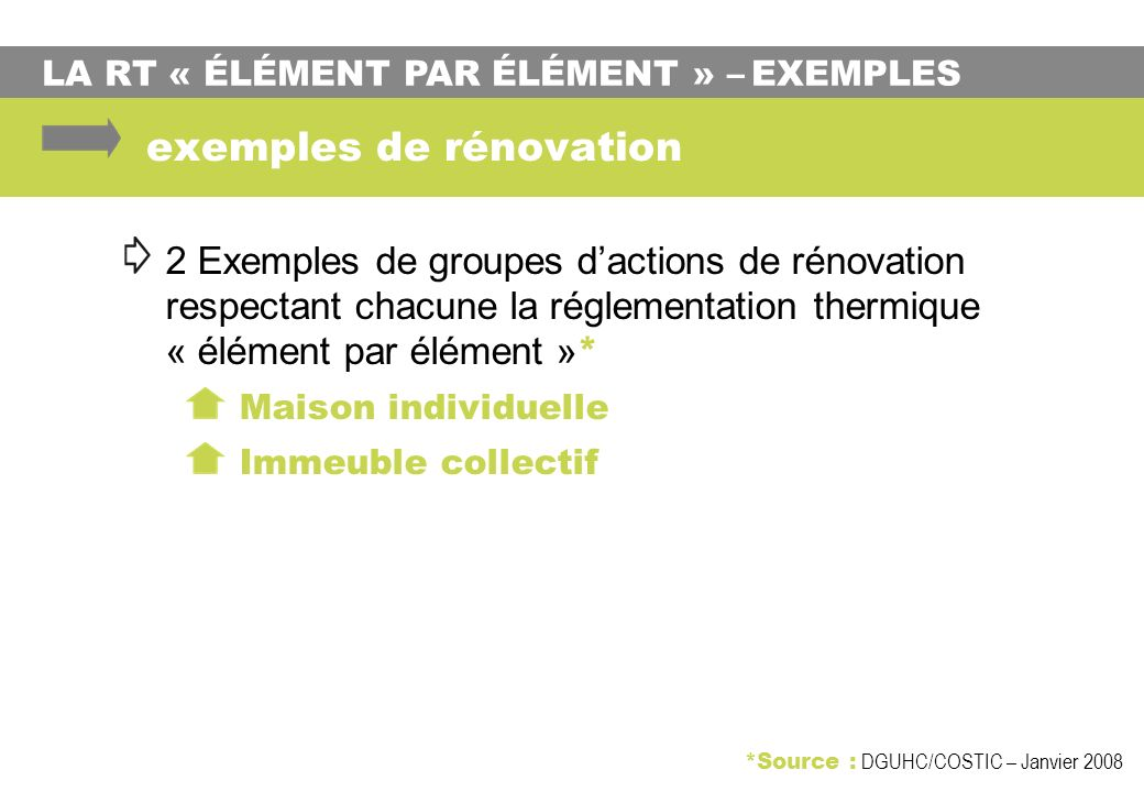 exemples de rénovation