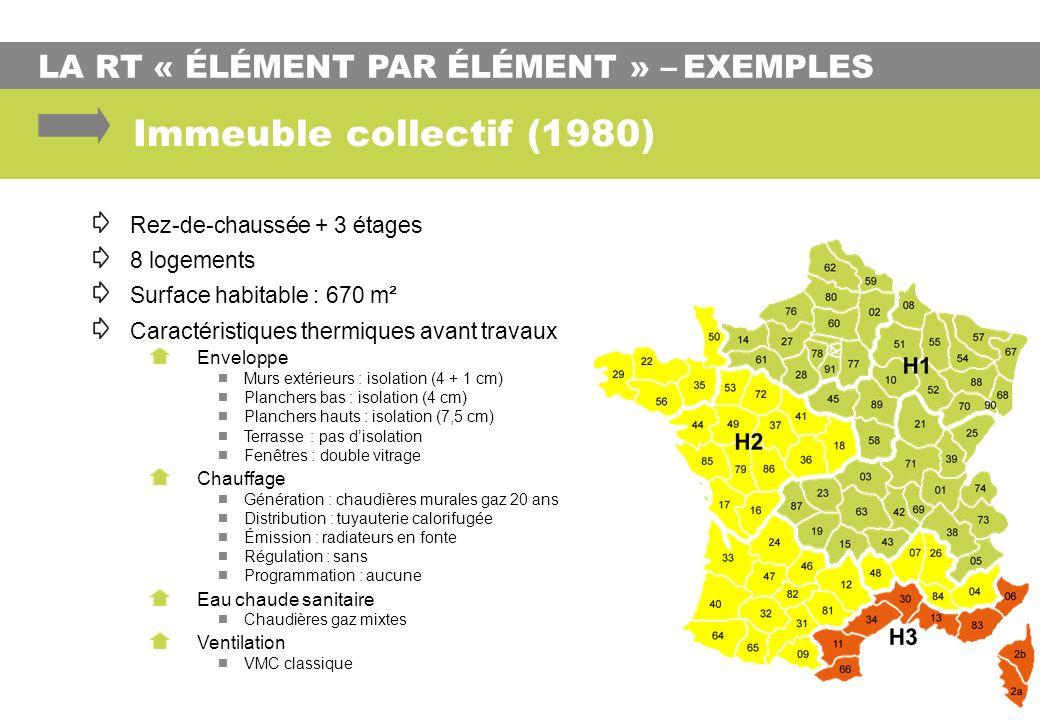 Immeuble collectif (1980) LA RT « ÉLÉMENT PAR ÉLÉMENT » – EXEMPLES