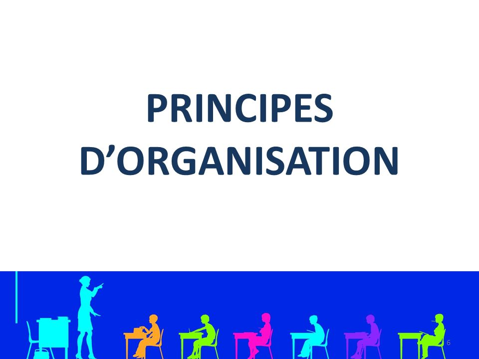 PRINCIPES D'ORGANISATION