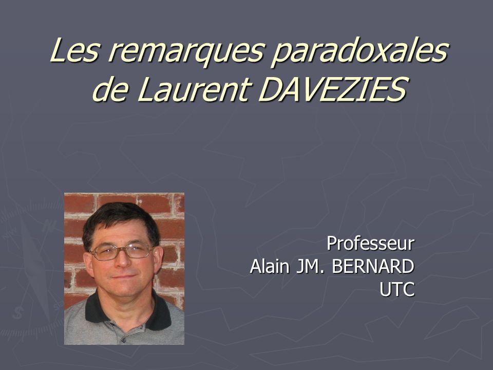 Lancement du séminaire: Les remarques paradoxales de Laurent DAVEZIES