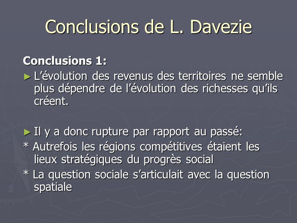 Conclusions de L. Davezie