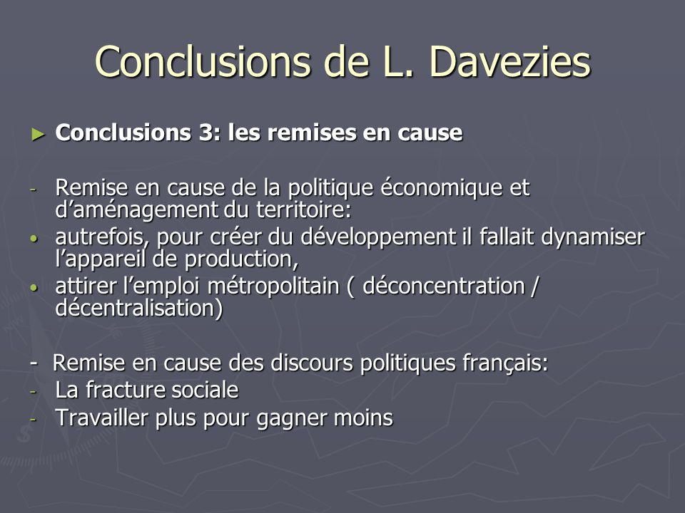 Conclusions de L. Davezies