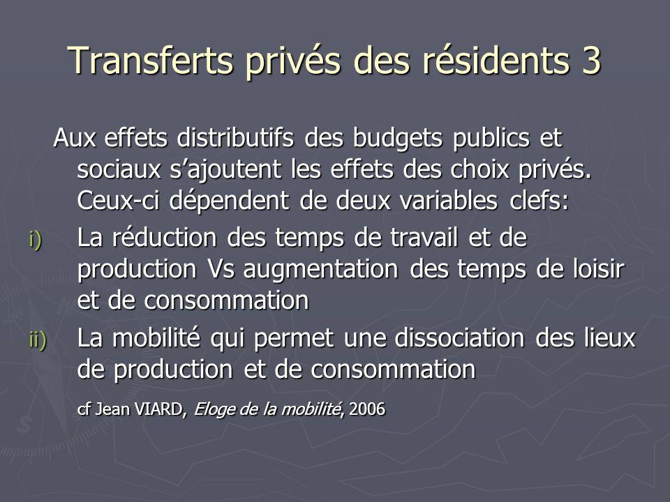 Transferts privés des résidents 3