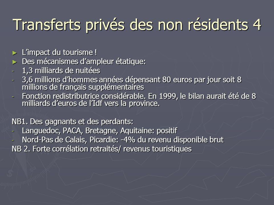 Transferts privés des non résidents 4