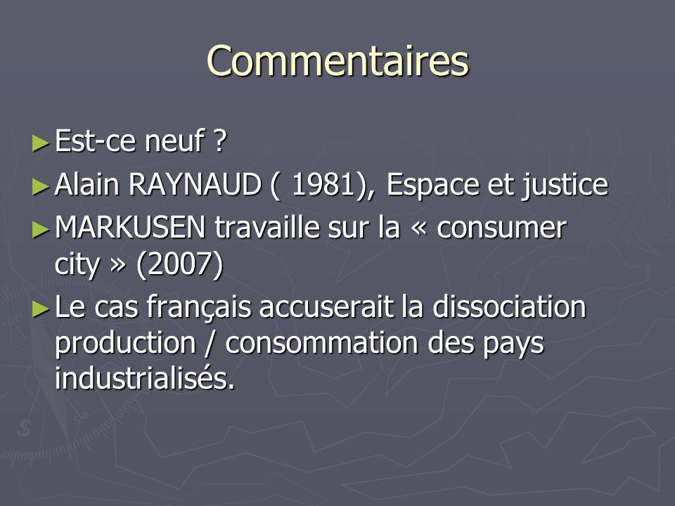 Commentaires Est-ce neuf Alain RAYNAUD ( 1981), Espace et justice