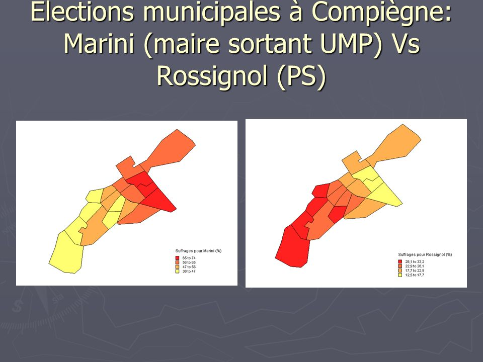 Elections municipales à Compiègne: Marini (maire sortant UMP) Vs Rossignol (PS)