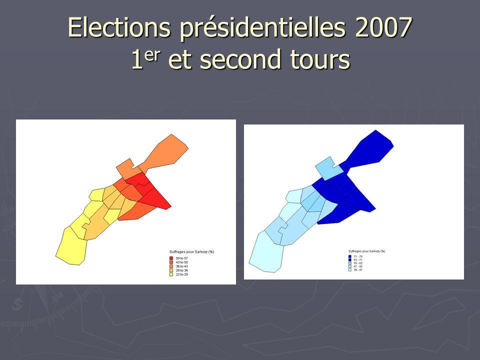 Elections présidentielles 2007 1er et second tours