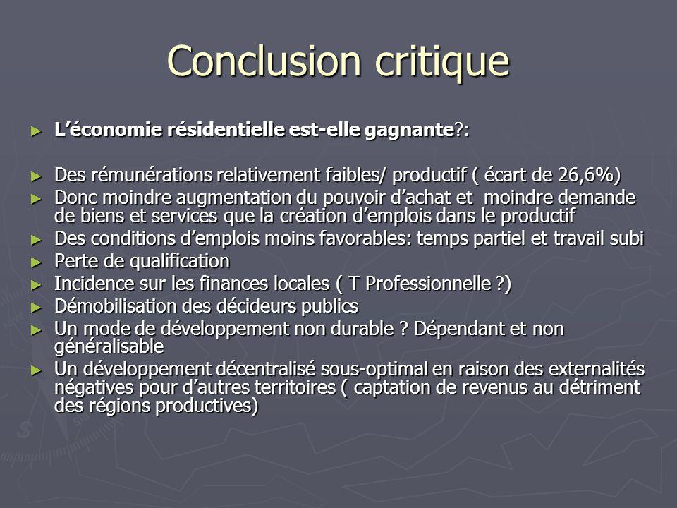 Conclusion critique L'économie résidentielle est-elle gagnante :