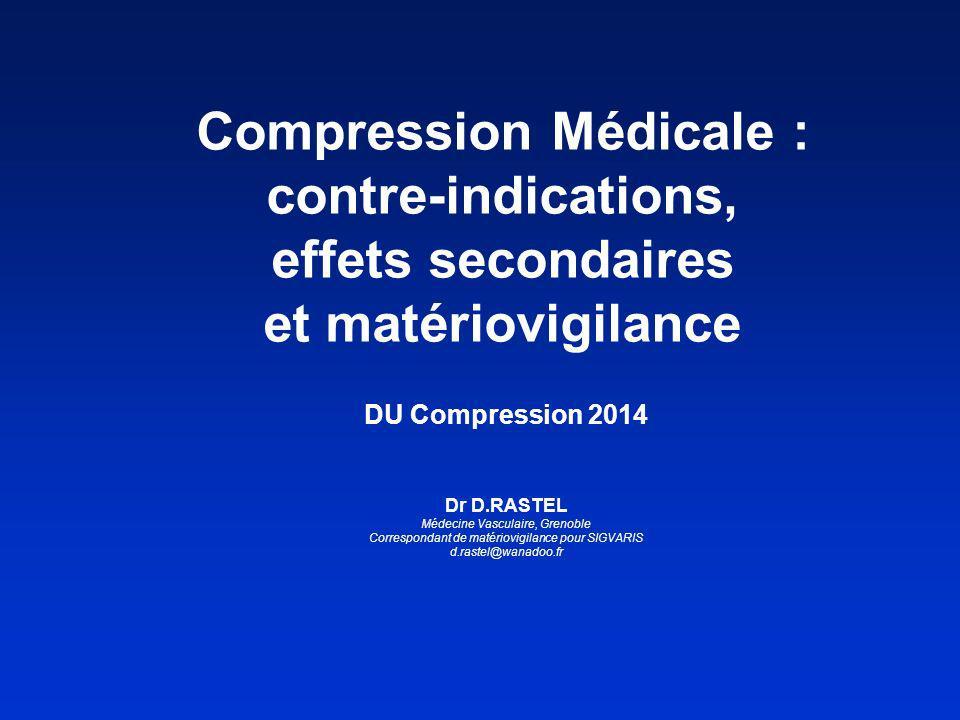 Compression Médicale : contre-indications, effets secondaires et matériovigilance