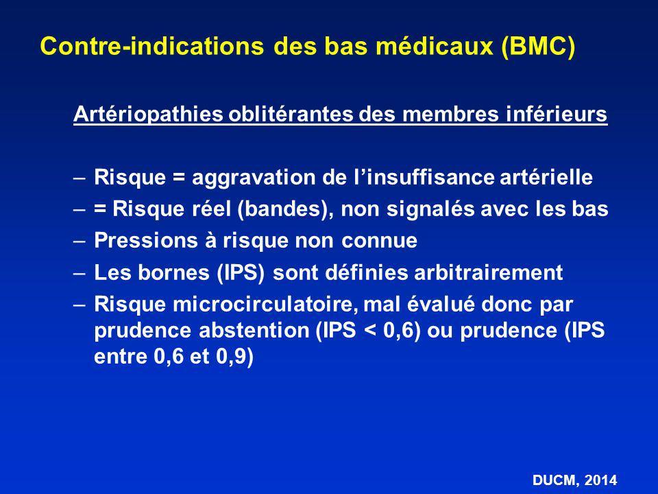 Contre-indications des bas médicaux (BMC)