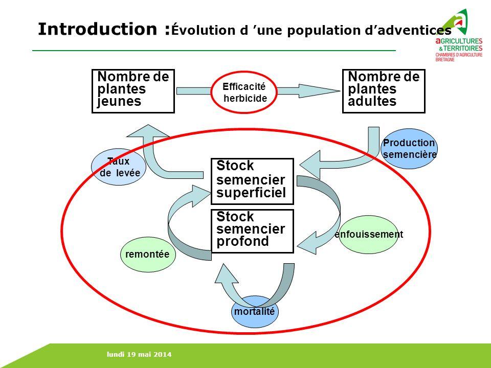 Introduction :Évolution d 'une population d'adventices