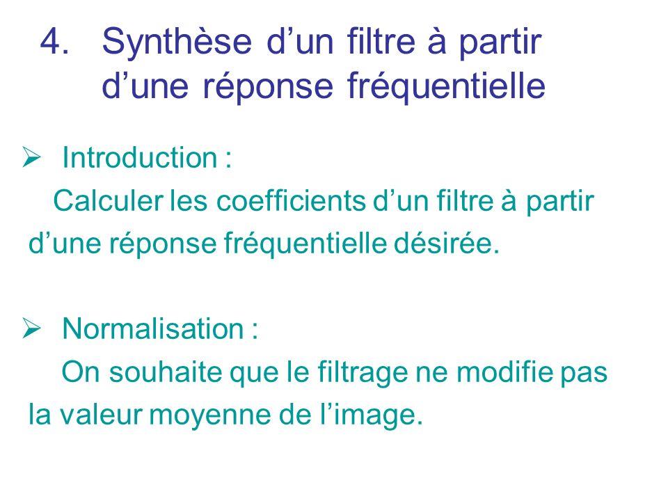 Synthèse d'un filtre à partir d'une réponse fréquentielle