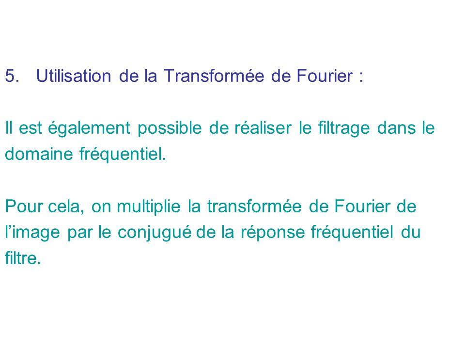 Utilisation de la Transformée de Fourier :