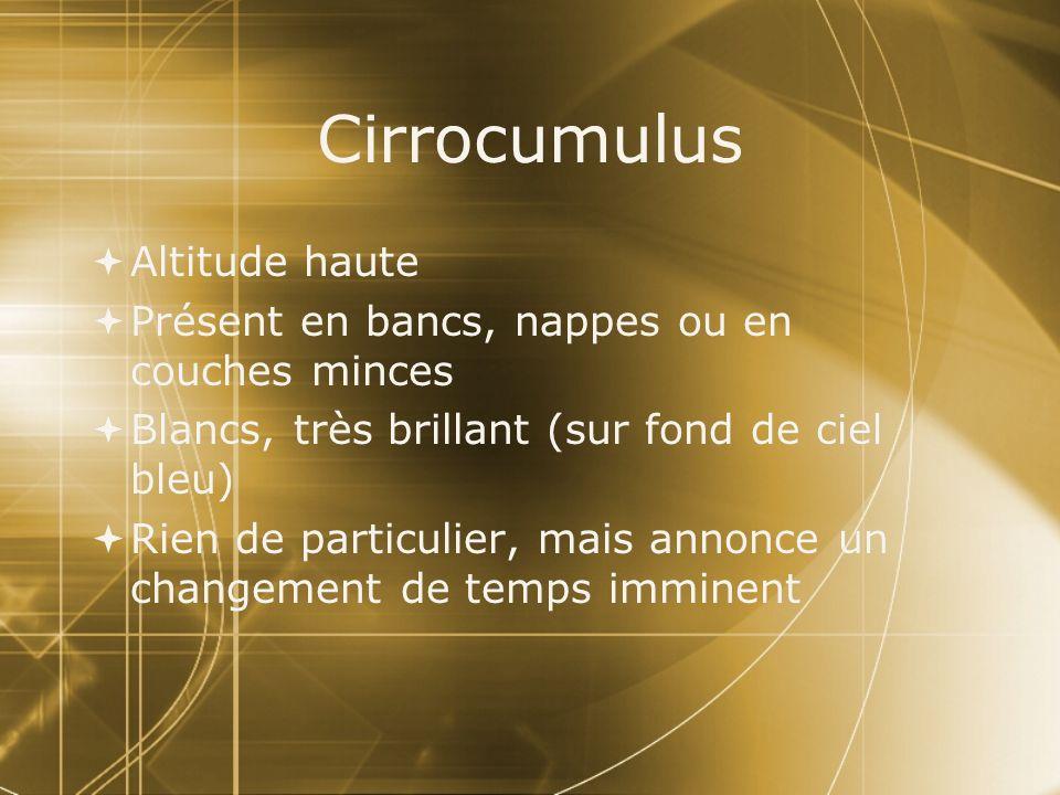 Cirrocumulus Altitude haute