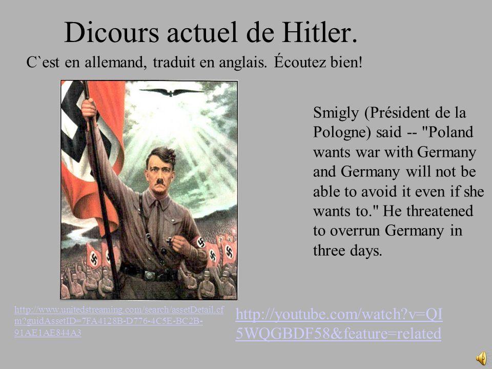 Dicours actuel de Hitler.