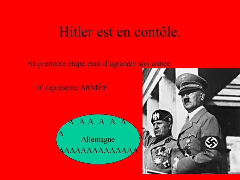Hitler est en contôle. Sa première étape était d`agrandir son armée.