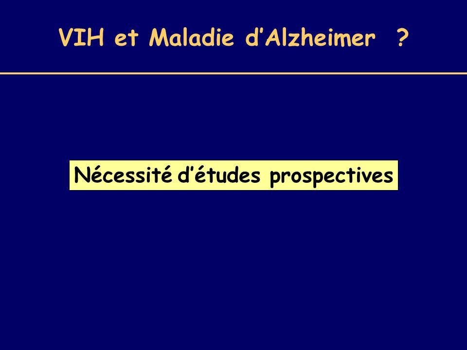 VIH et Maladie d'Alzheimer