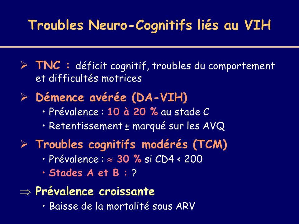 Troubles Neuro-Cognitifs liés au VIH